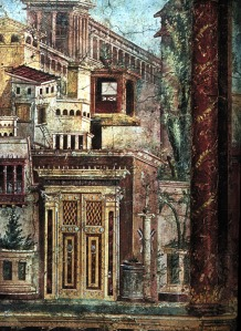 Cityscape from the Boscoreale frescoes, Metropolitan Museum, New York