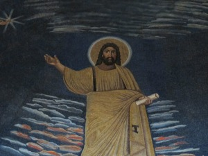 Detail, showing the figure of Christ.