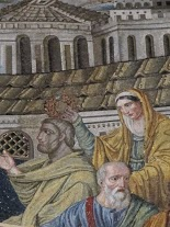 Santa Pudenziana crowning St Peter, detail, apse mosaic of Santa Pudenziana
