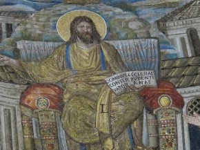 Christ, detail, apse mosaic of Santa Pudenziana
