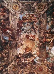 The Triumph of Divine Providence, ceiling of the Salone of Palazzo Barberini. Pietro da Cortona
