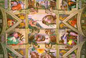 Sistine Chapel ceiling. Detail. Creation