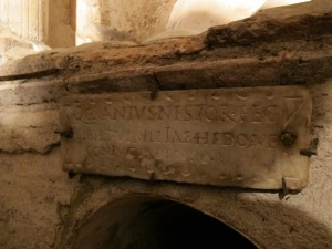 """Quintus Granius Nestor built this for himself and his wife Vimileia Hedone"""