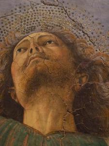 Apostle. Detail, apse frescoes (fragmentary) c.1480. Melozzo da Forlì.