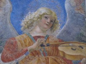 Angel. Detail, apse fresco (fragmentary). Melozzo da Forlì- c.1480. Pinacoteca Vaticana