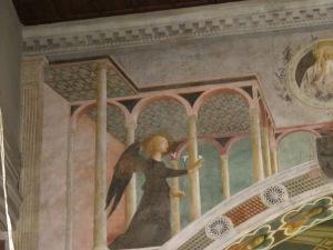 Annunciation, detail, Branda Castiglione Chapel