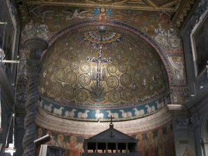 Apse mosaics, San Clemente, 12th century