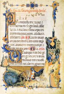 View of the Palatine in the Codex of Saint George (early 14th century). Biblioteca Vaticana.