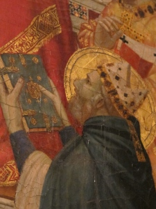 Saint Celestine V. Detail, Stefaneschi Altarpiece.