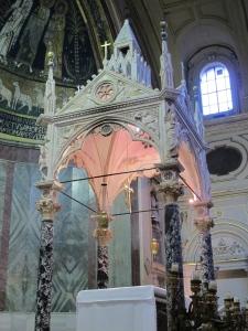 Ciborium, Santa Cecilia in Trastevere. Arnolfo di Cambio, 1293.