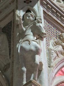 San Tiburzio. Detail, ciborium, Santa Cecilia in Trastevere.