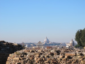 St Peter's seen from the Palatine Hill