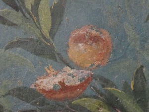 detail showing partially eaten pomegranate, triclinium of Livia, Palazzo Massimo alle Terme