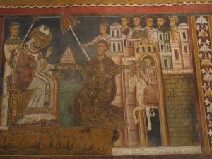 Donation of Constantine, Chapel of Saint Sylvester, Basilica dei Santi Quattro Coronati. Mid 13th century.