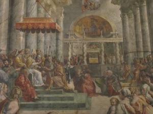 Donation of Constantine,  Giulio Romano. 1524.