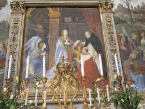 Annunciation, Filippino Lippi, Carafa Chapel