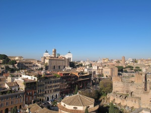 View today from the Palatine Hill, looking towards the Capitoline