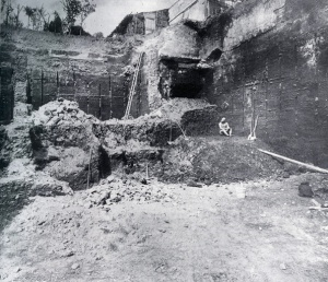 The Boxer at the site of his excavation, 1885