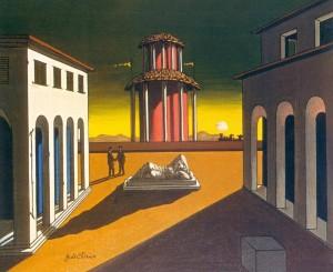 Piazza d'Italia, Giorgio de Chirico. Art Gallery of Ontario.
